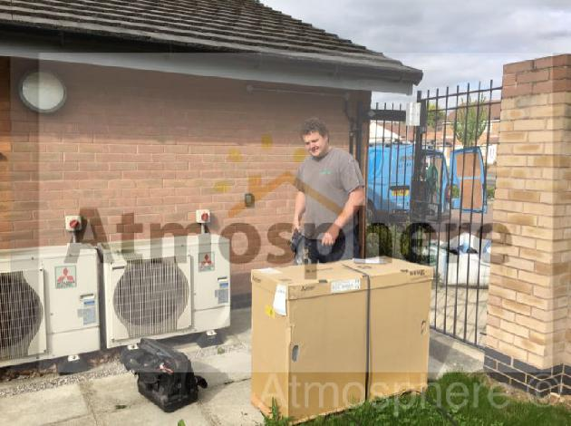Heat pump installation by Atmosphere of Widnes